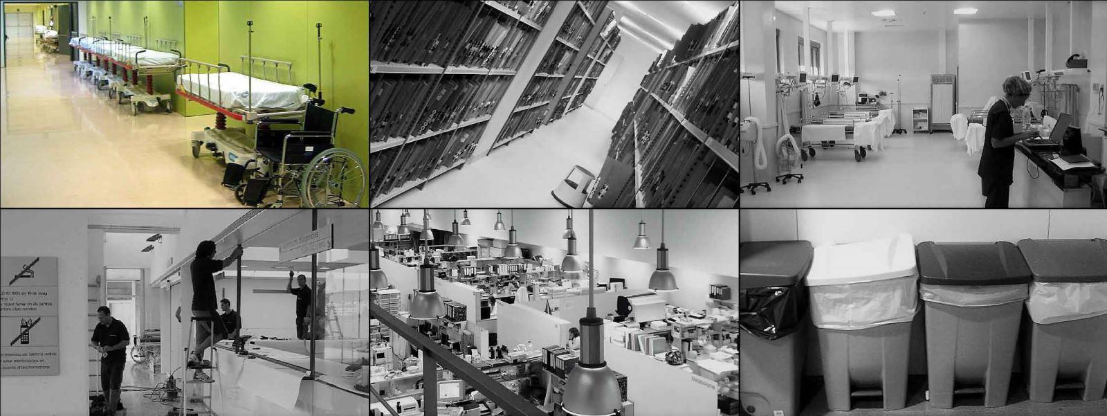Dissenyem i desenvolupem plans d'equipament hospitalari per a l'ampliació, trasllat i construcció de centres de salut, hospitals, laboratoris clínics i centres de recerca biomèdica