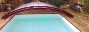 Productos químicos en la piscina