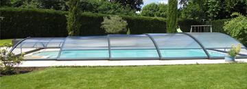 Cubierta telescópica de piscina