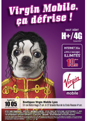 Virgin Mobile France Pets Rock poster campaign April 2014.