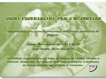 Curs de Cuina Vegetariana per a no iniciats