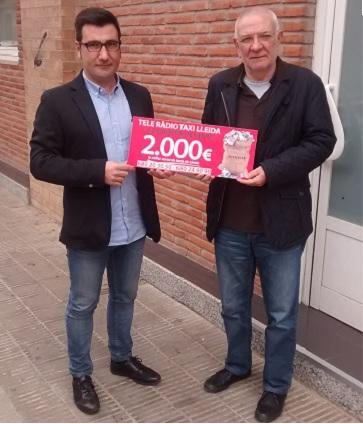Donació de 2.000€ per part de Tele Ràdio Taxi Lleida