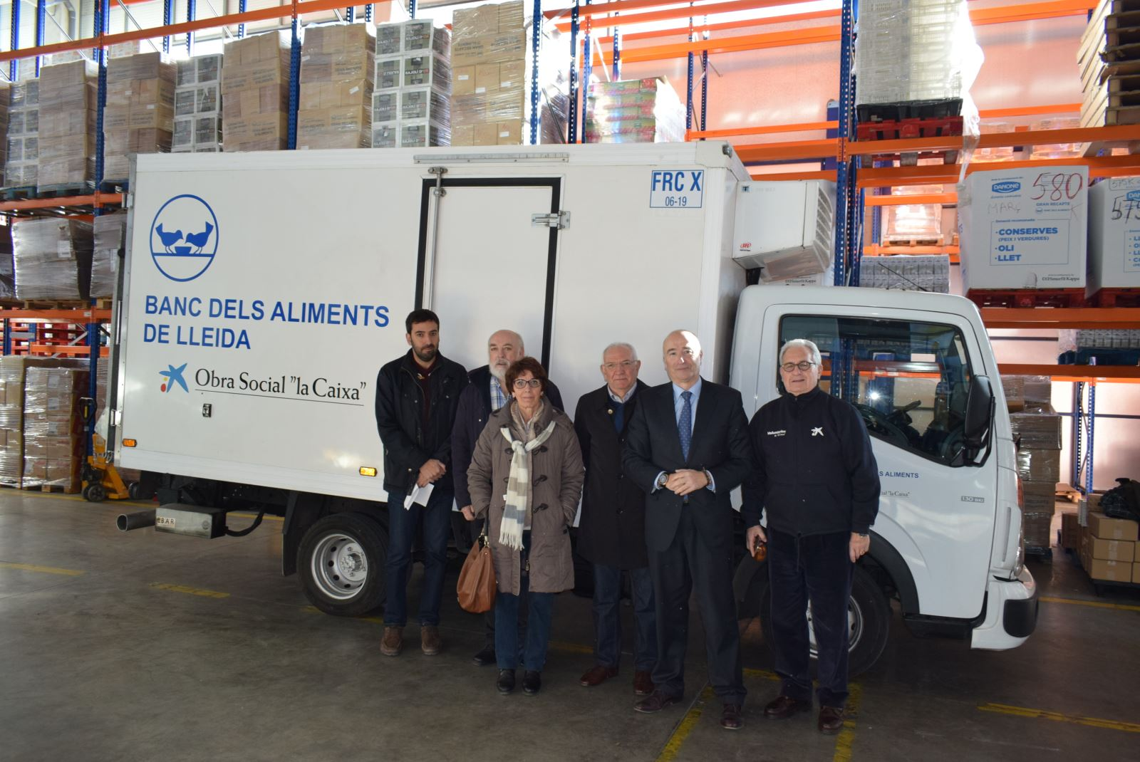 Moment de la presentació del nou camió frigorífic