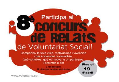 8è Concurs de Relats de Voluntariat Social