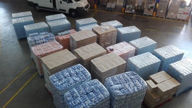 Compra de 13.000 kgs d'aliments bàsics amb els diners recaptats on-line durant el Gran Recapte