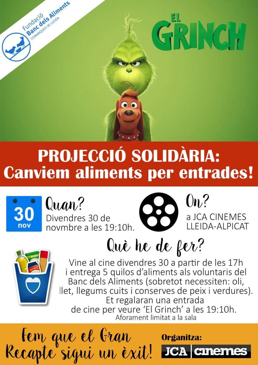 Projecció solidària al JCA Cinemes d'Alpicat en motiu del Gran Recapte