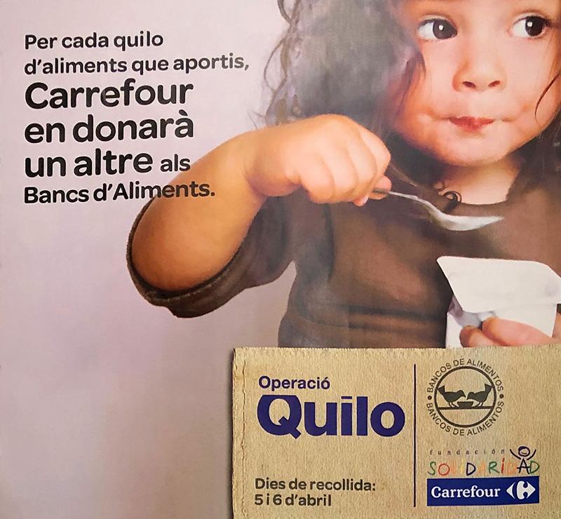 Carrefour arranca la tradicional 'Operació Quilo' a Lleida igualant l'aportació que faran els clients
