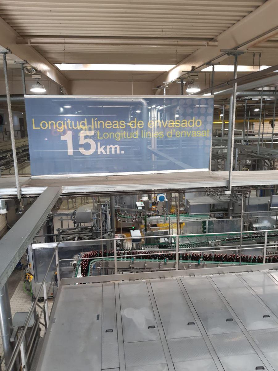 Visita al centre de producció de Mahou SanMiguel de Lleida