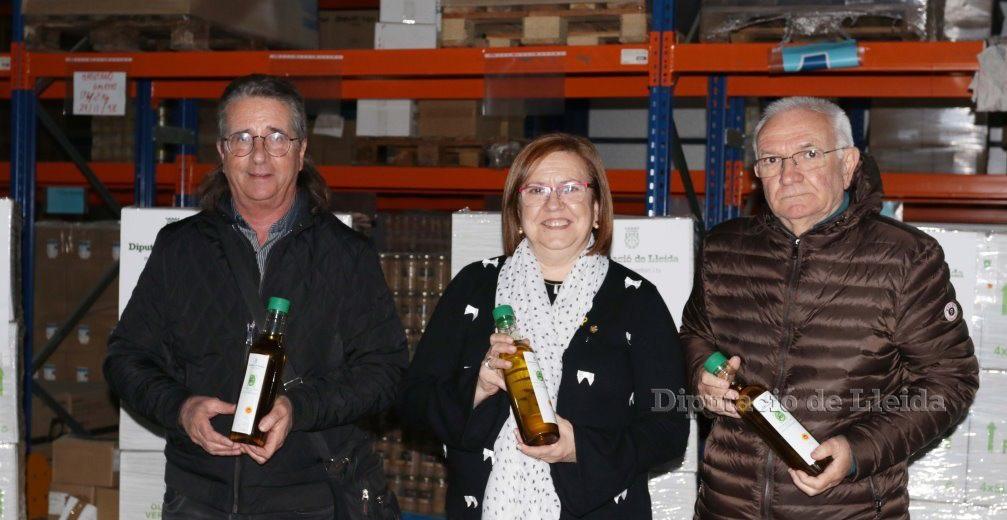 Donació de 5.000 ampolles d'oli per part de la Diputació de Lleida