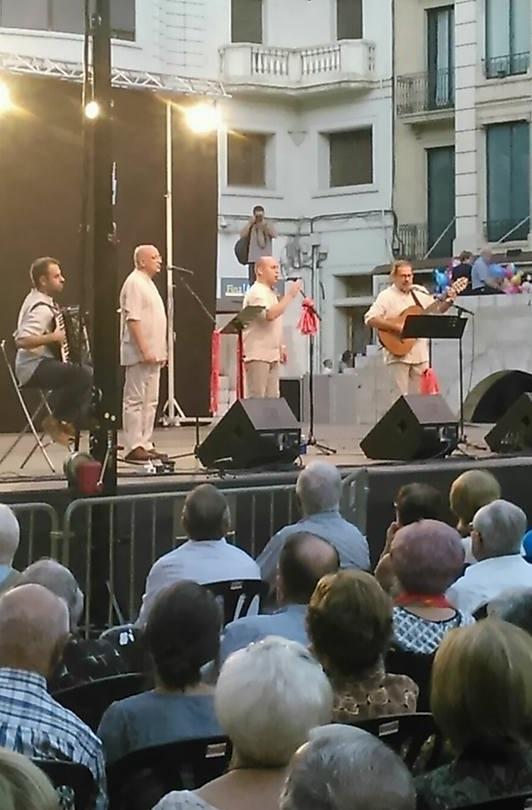 Un moment de l'actuació del Grup Boira