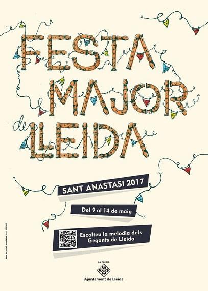 Cartell de la Festa Major de Lleida 2017