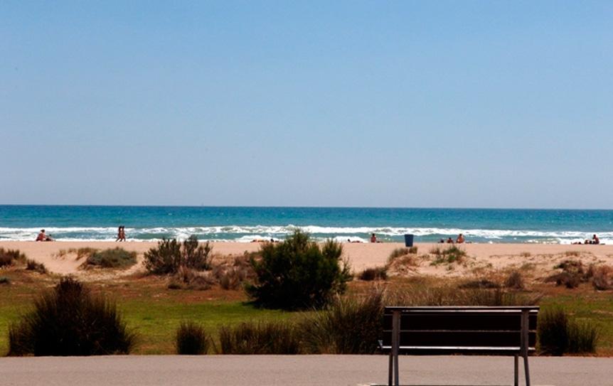 Zona dunar de la playa de Castelldefels