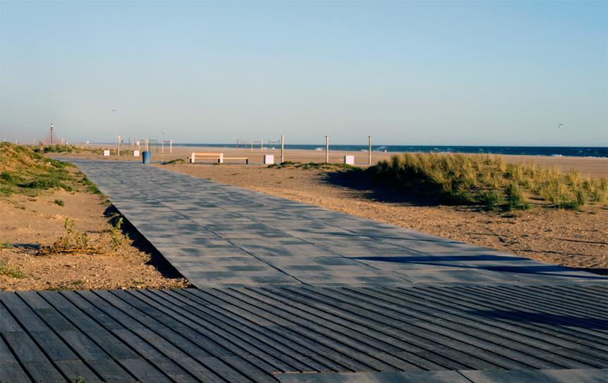 Segundo tramo de paseo marítimo de Castelldefels