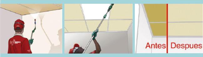 servicios de restauración y limpieza de paredes y techos
