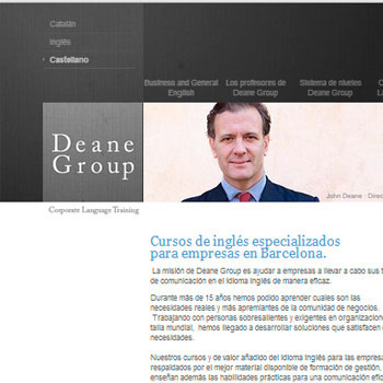 Creación del web de Deane Group
