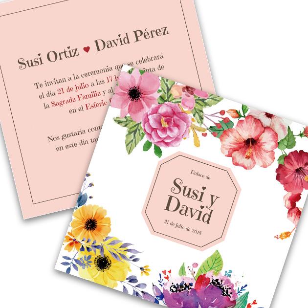 Invitación de boda Susi y David