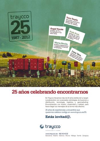Anuncio campaña de comunicación 25 años de Traycco
