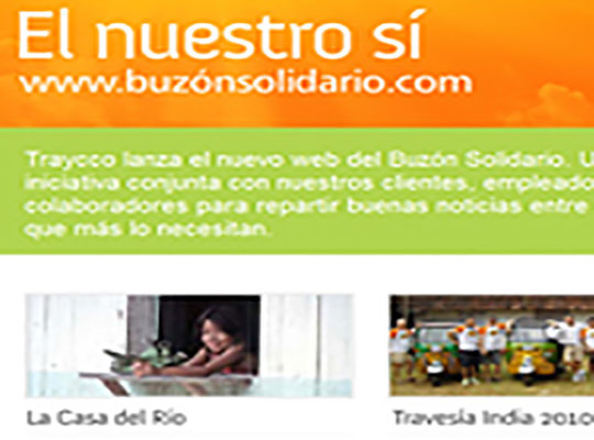 Emailing Buzón solidario, la web solidarioa de Traycco- Snik Comunicación