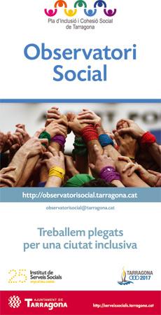 Anuncio creado y diseñado para el Observatori Social de Tarragona- Snik Comunicación