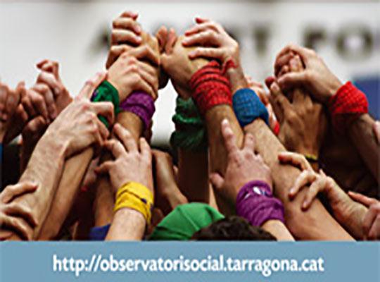 Tríptico creado y diseñado para el Observatori Social de Tarragona- Snik Comunicació