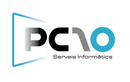 Imagen de Idea, conceptualización y diseño de logotipo y la imagen e identidad corporativa de la empresa de informática de nueva creación PC10.