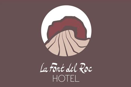 Imagen de diseño de logotipo del Hotel La Font del Roc de Roda de Berà, Tarragona, Costa daurada