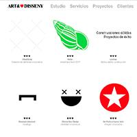 Diseño del web de Art&Love Disseny
