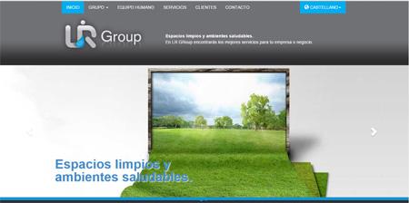 Imagen de creacion web LR Group slider animado snik comunicación