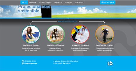Imagen de creacion web LR Group home servicios destacados snik comunicación