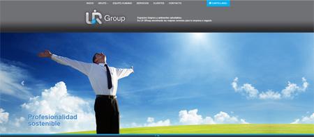 Imagen de creacion web LR Group slider animado a toda pantalla snik comunicación