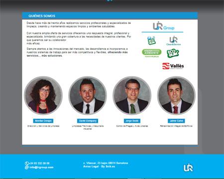 Imagen de creacion web LR Group quienes somos equipo