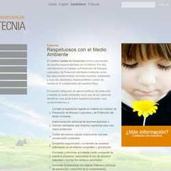 Idea y desarrollo del web del Centro Catalán de Geotecnia - Snik Comunicación