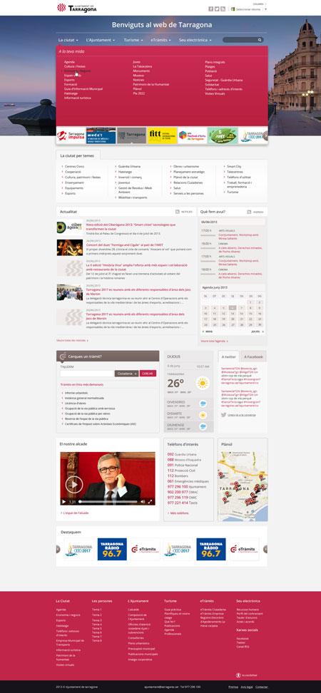 Diseño el portal web del Ayuntamiento de Tarragona por Snik Comunicación