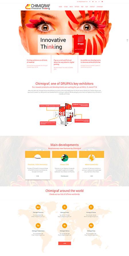 Diseño de la página principal