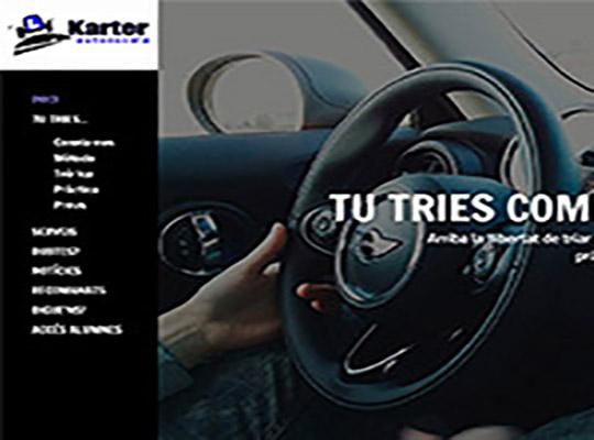 Diseño del web de Autoescuela Karter,  la primera autoescuela en línea de Tarragona.