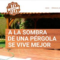 Diseño del web de Pérgolas JC, empresa dedicada a la construcción, instalación y reparación de pérgolas, porches y todo tipo de cerramientos de madera.