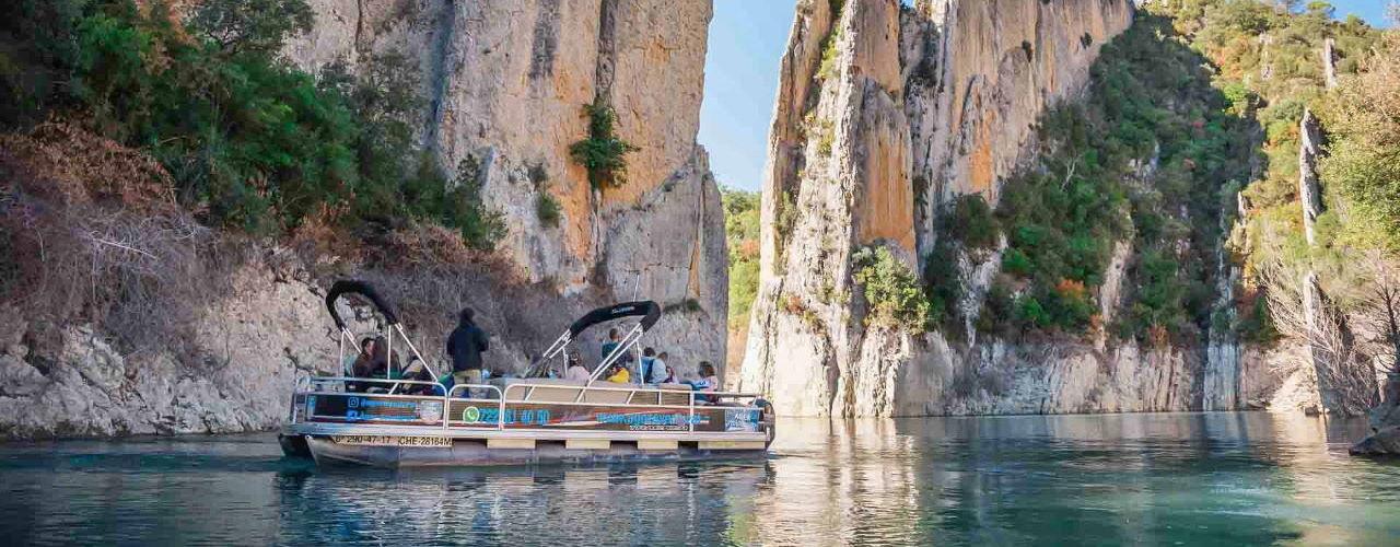 passeig amb vaixell pel congost de mont-rebei