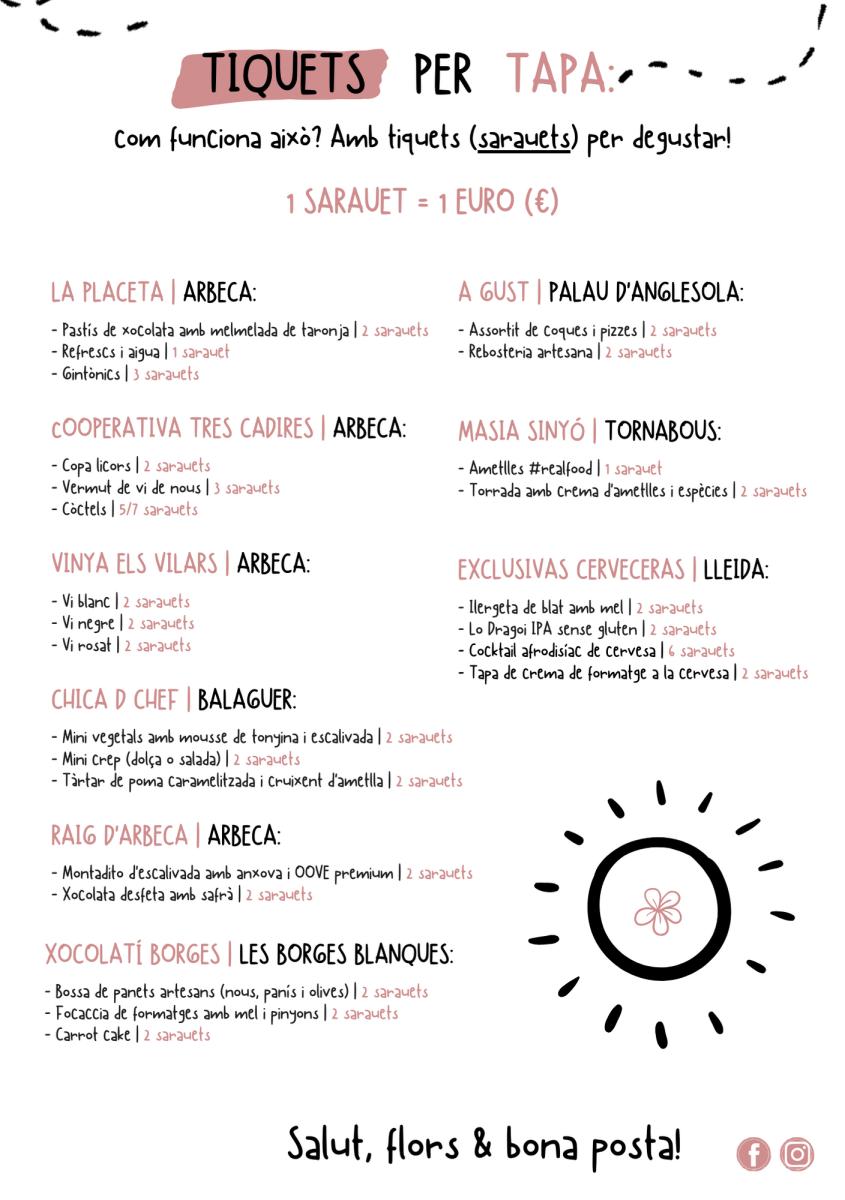 Degustacions Posta de sol | 22 de febrer