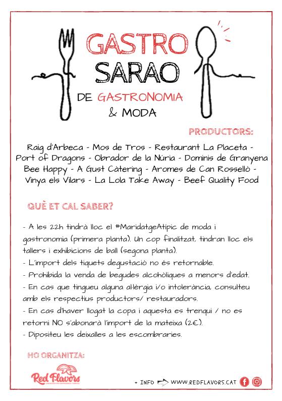 Díptic GastroSarao Arbeca