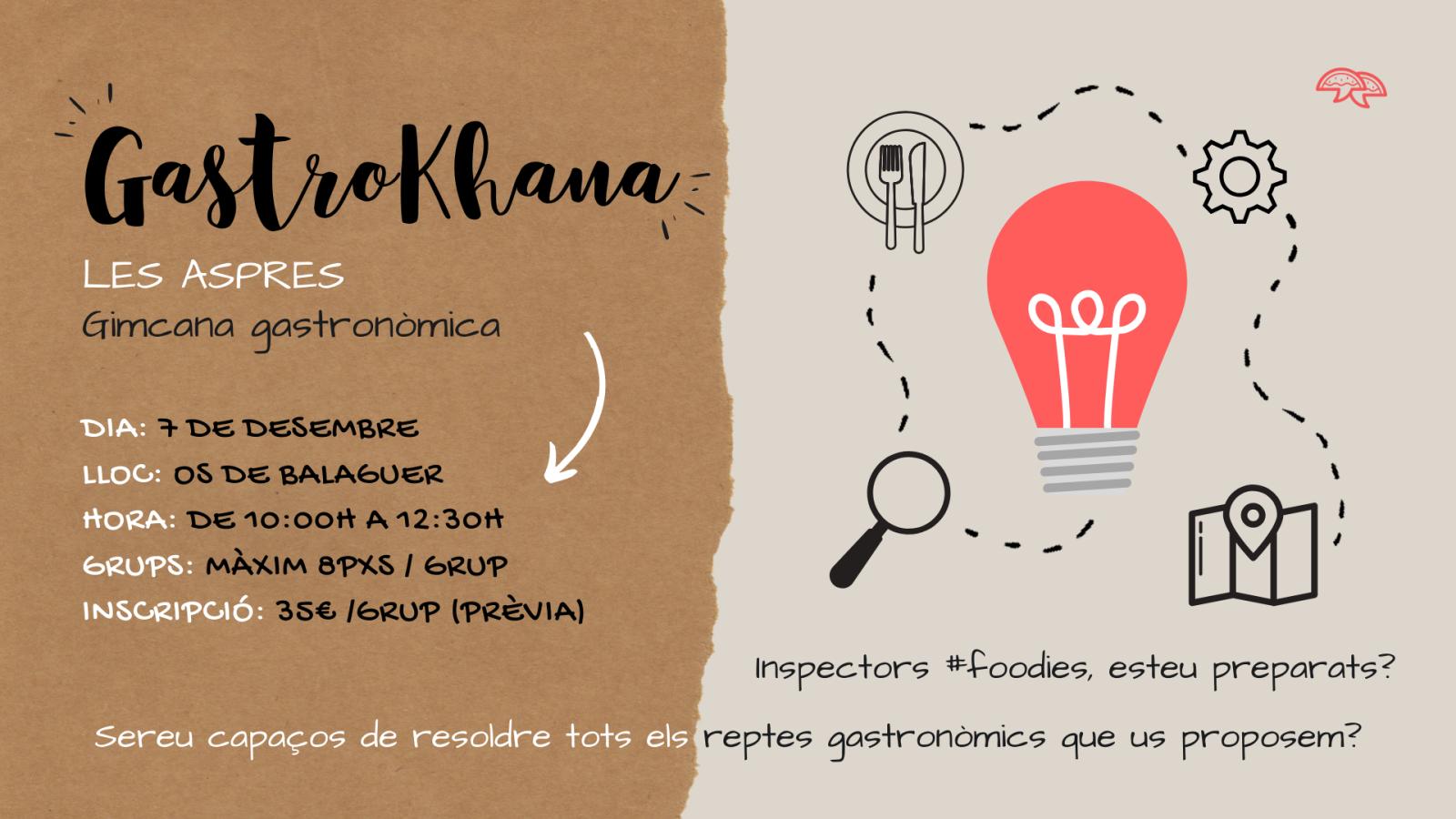 GastroKhana, la gimcana gastronòmica de les Aspres