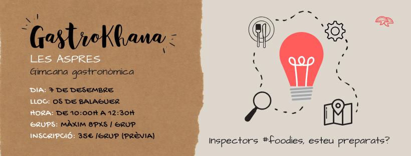 GastroKhana Les Aspres | Inscripcions OBERTES ☑️