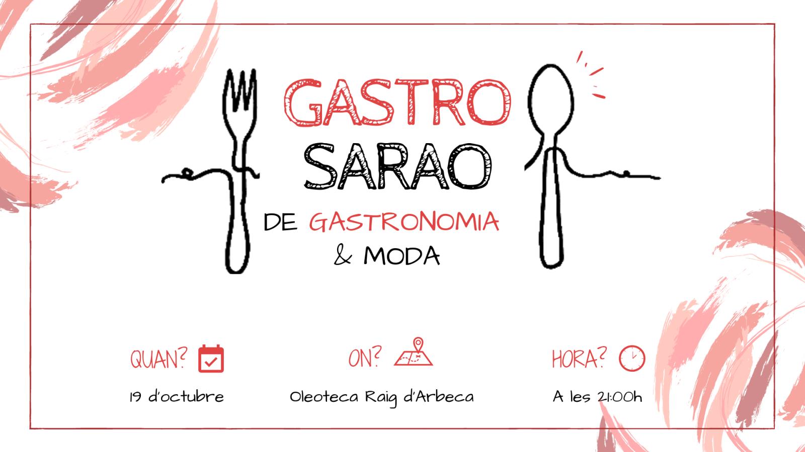 Arriba el #GastroSarao més fashion de Red Flavors... | 19 d'octubre a les 21h.