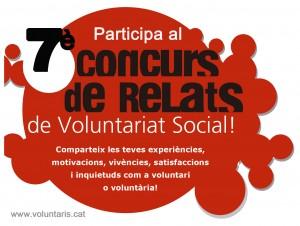 7a Edició Concurs de Relats sobre experiències de voluntariat