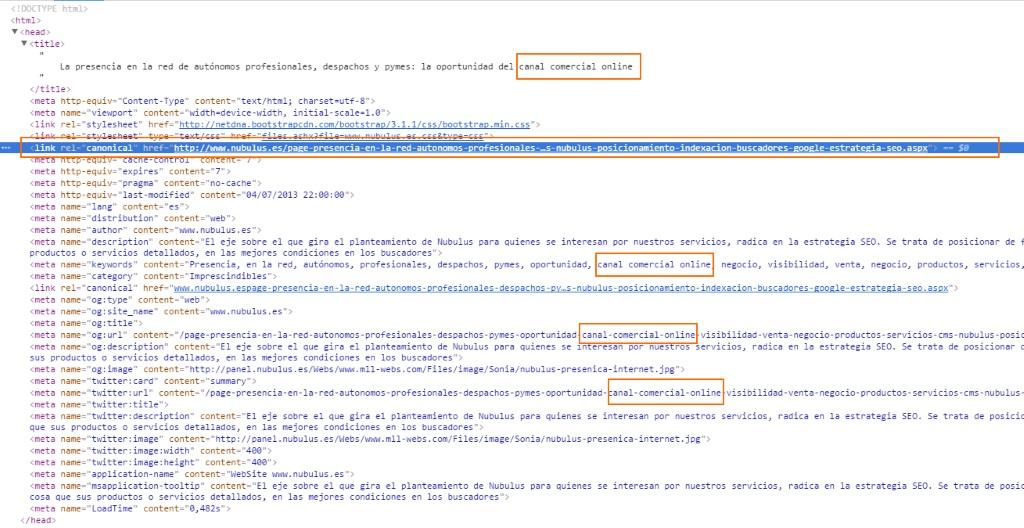 Los buscadores y sus algoritmos consumen etiquetas de código