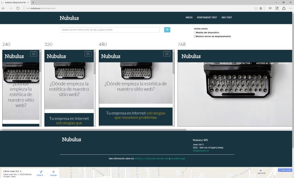 Herramienta que permite realizar un test de fragmentación de contenidos para poder evaluar la experiencia de usuario y detectar posibles problemas de estilos