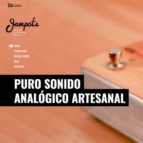 Diseño del web de Pedales Jampots