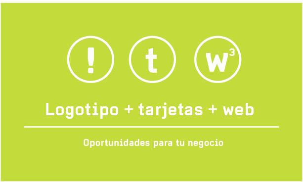 Logotipo+tarjetas+web= oportunidades de negocio