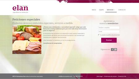 Nuevo web de Exclusivas Elan, especialistas en productos cárnicos