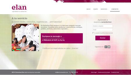 Web de Exclusivas elan, proveedor de embutios y productos cárnicos a hoteles