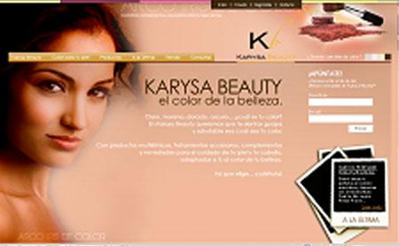 Karysa Beauty home tostada uno de los primeros webs de Snik Comunicacion